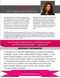 God's Confident Woman Conference | Women & Youth Workshop Speaker